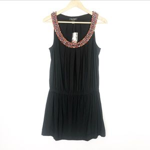 NWT White House Black Market Dress beaded neck